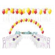 Арка из шаров на леске на свадьбу