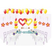 Оформление свадьбы шарами. Вариант №7