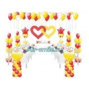 Свадебные элементы из воздушных шаров