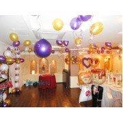 Готовый вариант украшения на свадьбу воздушными шарами. Вариант №24