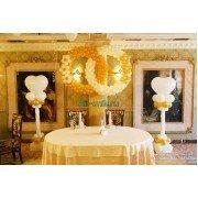 Украшение свадебного зала воздушными шарами. Вариант №22