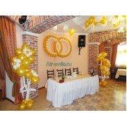 Украшение ресторана, кафе, бара шарами на свадьбу. Вариант №21