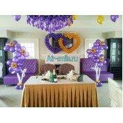 Украшение зала на свадьбу шарами. Вариант №20