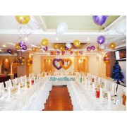 Украшение свадебного зала шарами. Вариант №16