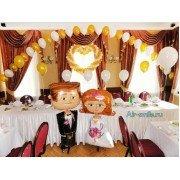 Оформление свадебного зала шарами. Вариант №15