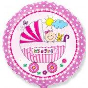 Шар Круг, Детская коляска для девочки