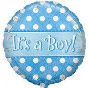 Шар Круг, С рождением мальчика (точки)