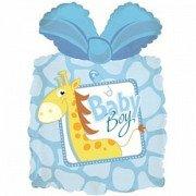 Шар Фигура, Подарок новорожденному мальчику, Голубой