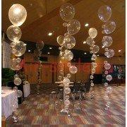 Воздушные фонтаны из шаров на свадьбу