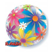 "Шар Bubble ""Разноцветные цветы"""