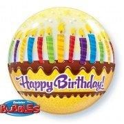 Шар Bubble с праздничным тортом