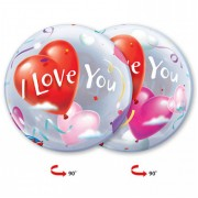 "Шар Bubble ""I love you"" №1"