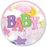 "Шар Bubble ""Луна и звёзды"" для девочки"