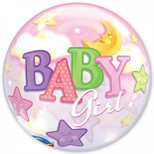 Шар баблс с надписью baby girl