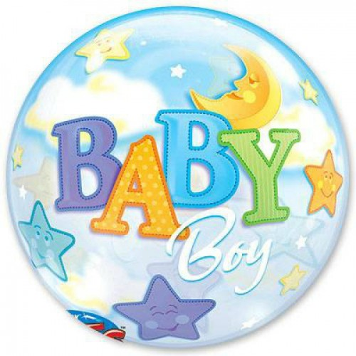 Шар баблс с надписью baby boy