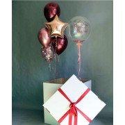 """Коробка-сюрприз с шарами """"Для самых любимых"""""""
