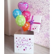 """Коробка с воздушными шарами """"Сладкий праздник"""""""