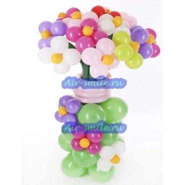 Цветы из шаров на стойке