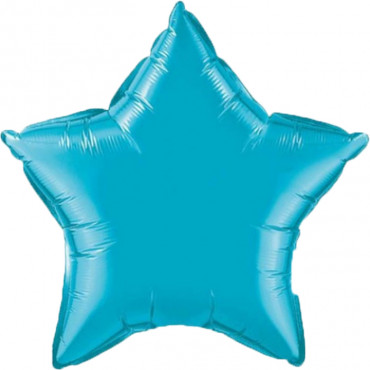 Звезда фольгированная Бирюзового цвета