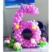 """Цифра из шаров в стиле """"Цветочная поляна"""""""