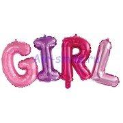 """Фольгированный воздушный шар в виде надписи """"Girl"""", разноцветный"""