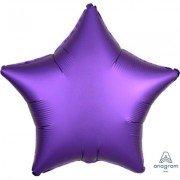 Фольгированная звезда Фиолетовый Сатин Люкс Hx