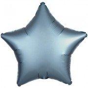 Фольгированная звезда Голубая Сталь Сатин Люкс Hx