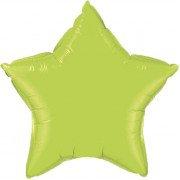 Фольгированная звезда салатовая