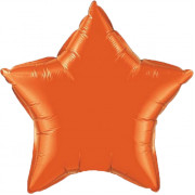 Фольгированная звезда оранжевая