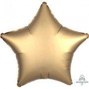 Фольгированная звезда Золотой Сатин Люкс Hx