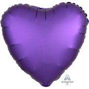 Фольгированное сердце Фиолетовый Сатин Люкс Hx