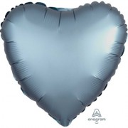 Фольгированное сердце Голубая Сталь Сатин Люкс Hx