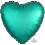 Фольгированное сердце Нефритовый Сатин Люкс Hx