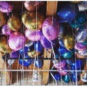 Фольгированные шары под потолок Сатин