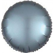 Фольгированный шар Голубая Сталь Сатин Люкс Hx