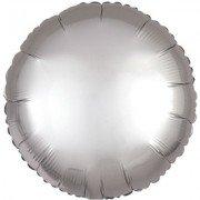 Фольгированный шар Платиновый Сатин Люкс Hx