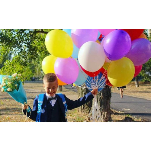 Разноцветные шарики с первым сентября