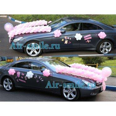 Гирлянда из шаров на капот для украшение машины