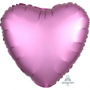 Фольгированное сердце Фламинго Сатин Люкс Hx