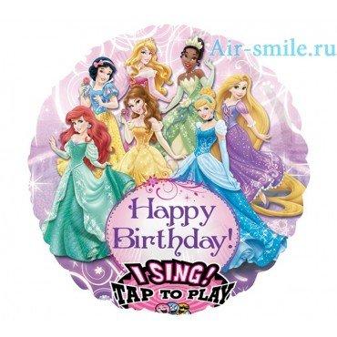 Музыкальный шар с принцессами