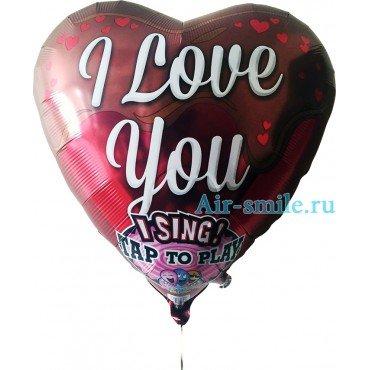 Музыкальный поющий шар в форме сердце для признания в любви