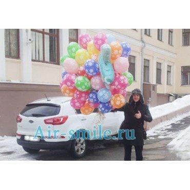 Доставка шаров к родильному дому