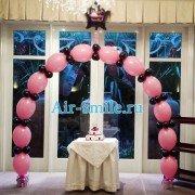 Розовая арка из линколунов