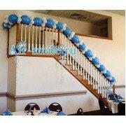 Оформление лестниц и перил шарами линколун
