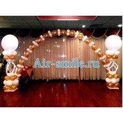Торжественное украшение зала шариками линколун