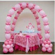 Арка из шаров линколунов для оформления детского сладкого стола
