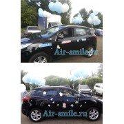 Пример оформления шарами автомобиля