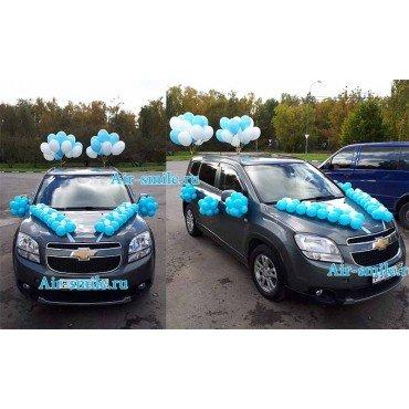 Украшение воздушными шарами автомобиля на выписку для сыночка