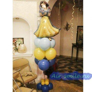 Композиция шаров с принцессой Белоснежкой