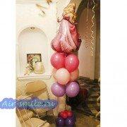 Композиция из шаров с принцессой Авророй